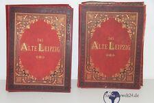 sehr selten Bilderband Das alte Leipzig bei Otto Roth Albumin 1880