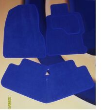 VW GOLF MK4 BRIGHT BLUE CAR MATS 1997 - 2004 WITH 4 ROUND LOCATOR CLIPS SET OF 4