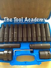 COMMERICAL AIR IMPACT TORX STAR T60   T100 HEX 17   24mm SOCKET BIT SET 3/4 & 1""