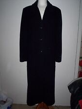 WINDSMOOR FULL LENGTH NAVY WOOL AND CASHMERE COAT SIZE UK12