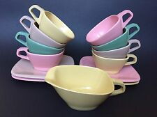 VTG HARMONY HOUSE TALK OF THE TOWN MELMAC 8 COFFEE CUPS 4 SAUCERS AND CREAMER