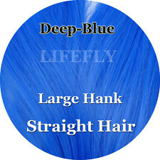 Deep Blue Color, Straight Syn. Hair, Fibre, Fly Tying, Bucktail Jig, Lure Making