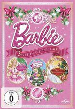 BARBIE WEIHNACHTSFILME: DER NUSSKNACKER/ZAUBERHAFTE WEIHNACHTEN/+  3 DVD NEU