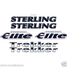 STERLING Elite Trekker - (STYLE 1)(CHROME) - Caravan Sticker Graphic - SET OF