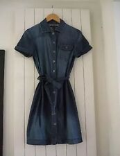 BANANA REPUBLIC DRESS DENIM SHIRT DRESS SUMMER ALEXA DRESS GAP DRESS UK 8 SMALL!