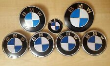 Full Set Original Colour BMW Wheel Center Caps Boot Bonnet & Steering Badges