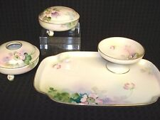SET/5 Hand Painted Nippon Dresser~FLOWERING DOGWOOD~Tray~Pin dish~Receiver