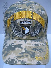 101st Airborne Cap/Hat Camo Gold letters Military*Free Shipping*