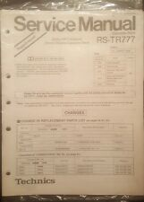 Technics RS-TR777 Service Manual