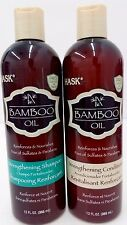 Hask Bamboo Oil Strengthening Shampoo and Conditioner Combo 12 oz