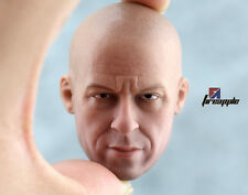 Rare 1/6 Scale VIN DIESEL HEAD SCULPT Very Hot Toys FAST AND THE FURIOUS DOM
