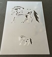 Horse Mylar Reusable Stencil Airbrush Painting Art Craft DIY home Decor