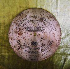 """alte Kalliope Leipzig Nr. 380 Lochplatte Spieluhr """"Verlorenes Glück Lied"""" 23 cm"""
