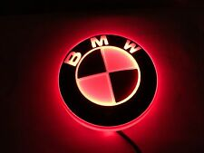 NEW 2016 LED RED 4D BADGE SELF ADHESIVE FITS BMW 1 3 5 7 SERIES BOOT OR BONNET