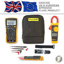 Fluke 117 True RMS Multimeter + 323 Clamp Meter +TPAK3+1AC+C115 Case (FLU-K-CS2)