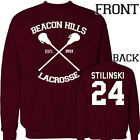 NEW TEEN WOLF Beacon Hills Stilinski 24 Dylan O'brien Jumper Sweatshirt all size