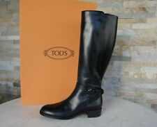 de luxe TOD'S TODS Taille 38,5 bottes bottes Chaussures noir