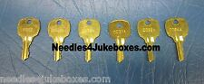 1 AMI/Rowe Jukebox Key, Your Choice of RI303, C440A, C256A, C33A, C092A or C094A