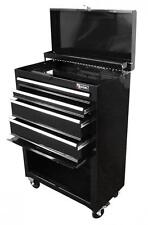 Excel TB2201X-Black 22-Inch Steel Chest Roller Cabinet Combination, Black Chest