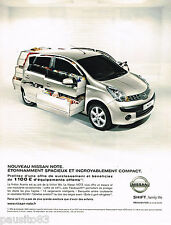 PUBLICITE ADVERTISING 065  2007  Le nouveau NISSAN NOTE  ACENTA