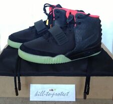 NIKE AIR YEEZY 2 BLACK SOLAR RED Sz US8 UK7 KANYE WEST 508214-006 NRG 2012