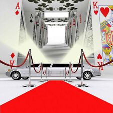 Poker Red Carpet 8'x8' CP Backdrop Computer printed Scenic Background ZJZ-588