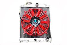 "94-01 Acura Integra DC 2 Row Aluminum Radiator Half Size M/T + 12"" Fans Red"