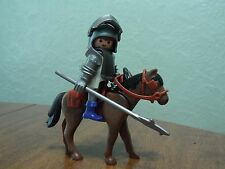 Vintage Playmobil Knight With Horse Armor & Weapons Medieval Knight