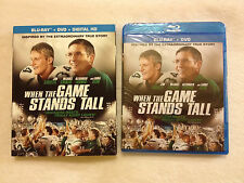 When the Game Stands Tall (Blu-ray/DVD, 2014)w/SLIPCOVER!LIKE NEW!FREE SHIP!$1 O