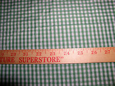 """4.50 yd,44/45""""W; Green/White Gingham Check By Perfect Textiles;65/35%Poly/Cotton"""