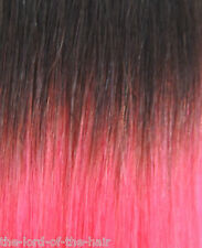 "AMERICAN DREAM QUICK FIX CLIP 12""WEFT HAIR EXTENSIONS 85 NATURAL BLAC /PINK ROSE"