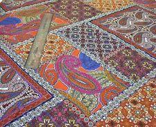 Ligero crepé Impresión Paisley Patchwork-Multicolor-Vestido Tela Libre P&P