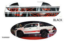 Black Sticker Style TRD Racing Decal For Toyota Hilux Revo SR5  M70 M80 15 2016