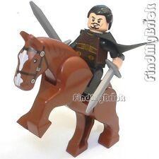 NEW Lego Three Kingdoms Custom Liu Bei Minifig & Horse 三国の劉備 雙股劍 と 的蘆 NEW