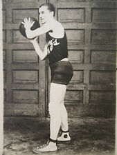 ANTIQUE AMERICAN BASKETBALL CONVERSE ? SNEAKERS GYM GRAFFITI BOY OLD RPPC PHOTO