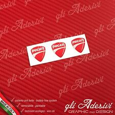 3 Adesivi Resinati Sticker 3D Ducati Corse New Red micro 10 mm