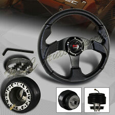 For 1994-2004 Ford Mustang 320MM Carbon Style PVC Leather Steering Wheel+Adapter