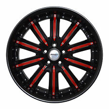 4 GWG Wheels 20 inch Black Red NARSIS Rims fits FORD ESCAPE 2WD 6CYL. 2001-2012