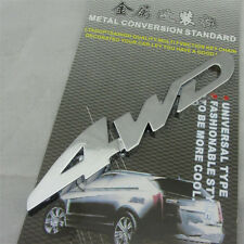 Car Metal Silver 4WD Logo 3D Decal Badge Emblem Sticker Auto Number Stickers BK