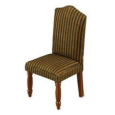 Dollhouse Dining Chair 18342 Reutter Brown Stripe Upholstered Miniature 1:12
