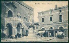 Treviso Città Piazza Indipendenza Auto Carrozze cartolina VK1726