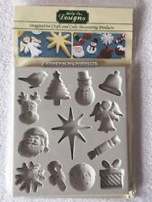 Katy Sue Designs Silicone Christmas Embellishments Mould - NEW