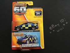 Matchbox Mitsubishi Lancer Evolution X Police Superfast #02 EVO 60th Anniversary