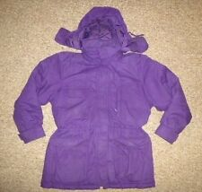 EDDIE BAUER Purple Warm Winter Ski GOOSE DOWN JACKET Coat Size Women MEDIUM Cute