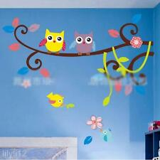 DIY Cartoon Sticky Tree Bird Owl Wall Stickers Home Wall Paper Decoration Art