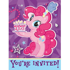 MY LITTLE PONY Pinkie Pie INVITATIONS (8) ~ Birthday Party Supplies Stationery