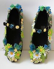 FLOWER FAIRY fae leaf GREEN ALICE SHOES festival LOLITA KAWAII PASTEL GOTH 38 5