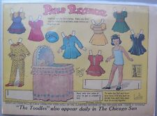 Paper Playhouse Sunday + 6 Daily,Paper Doll by G P Rogers from 10/25/1942 Rare!