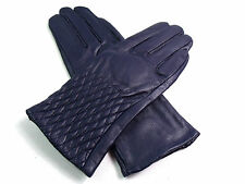 Ladies Womens Premium High Quality Genuine Soft Leather Gloves Fur Lined Warm