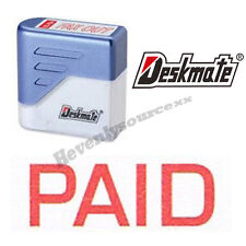 { PAID } Deskmate Red Pre-Inked Self-Inking Rubber Stamp #KE-P01A